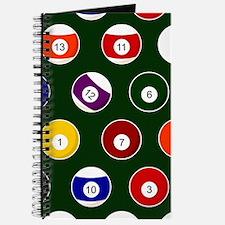 Green Pool Ball Billiards Pattern Journal