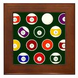 Pool ball Framed Tiles