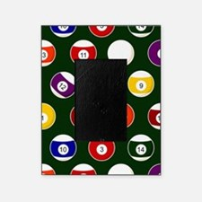 Green Pool Ball Billiards Pattern Picture Frame
