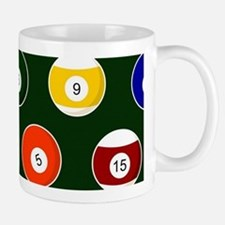 Green Pool Ball Billiards Pattern Mugs