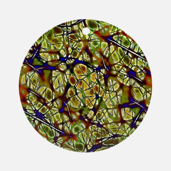 Neurons Round Ornament