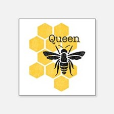 "Honeycomb Queen Bee Square Sticker 3"" x 3"""