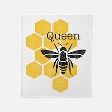 Honeycomb Queen Bee Throw Blanket