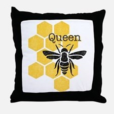 Honeycomb Queen Bee Throw Pillow