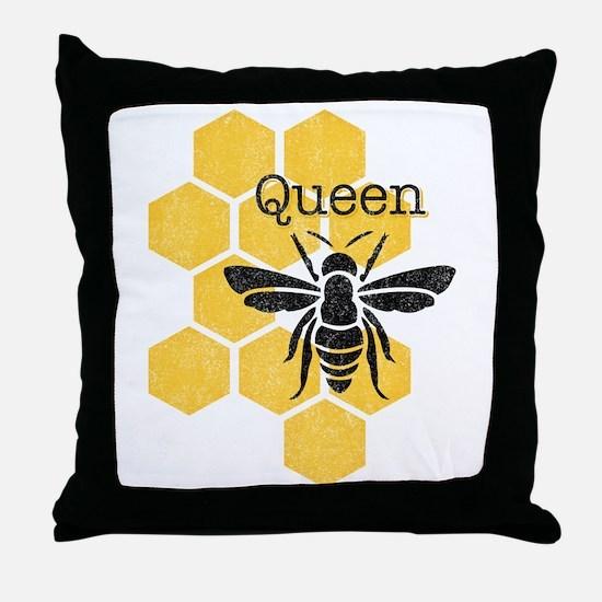 Honeycomb Queen Bee Throw Pillow