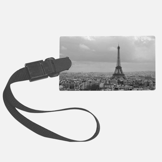 Funny Paris Large Luggage Tag