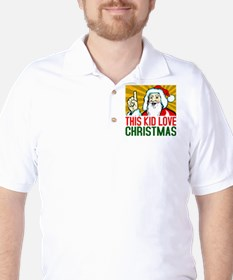 This kid love christmas. T-Shirt