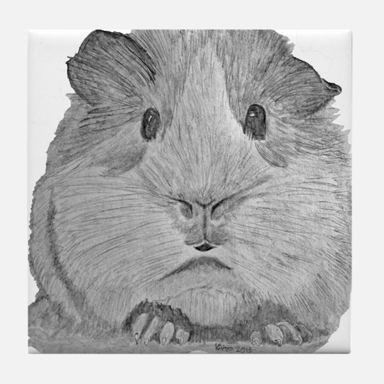Guinea Pig by Karla Hetzler Tile Coaster
