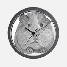 Guinea Pig by Karla Hetzler Wall Clock