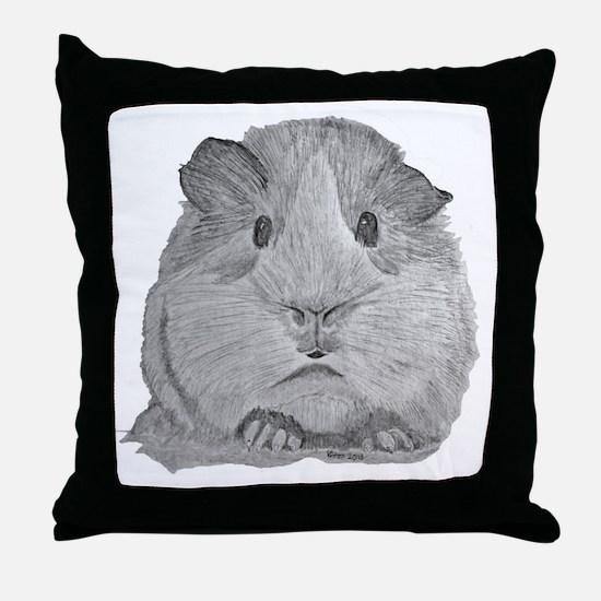 Guinea Pig by Karla Hetzler Throw Pillow