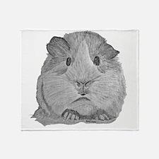 Guinea Pig by Karla Hetzler Throw Blanket
