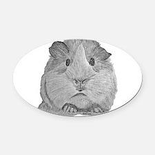 Guinea Pig by Karla Hetzler Oval Car Magnet