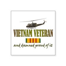 "Cute Air force vietnam veteran Square Sticker 3"" x 3"""