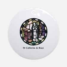 St Catherine de Ricci Round Ornament