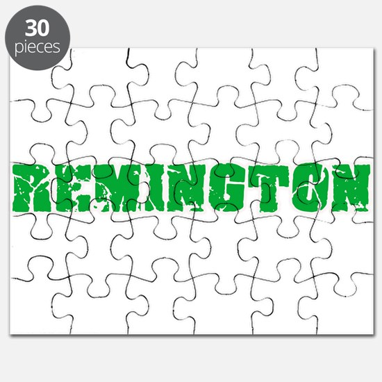 Remington Name Weathered Green Design Puzzle