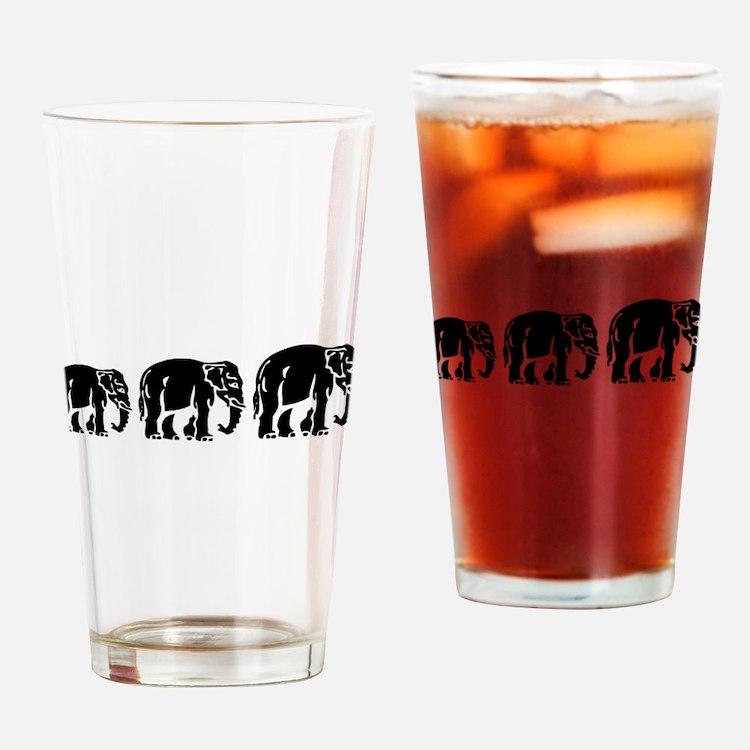Chang Chang Chang ~ Asian Elephants Crossing Drink