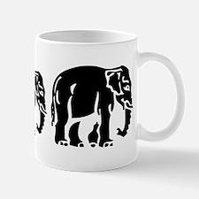 Chang Chang Chang ~ Asian Elephants Crossing Mugs