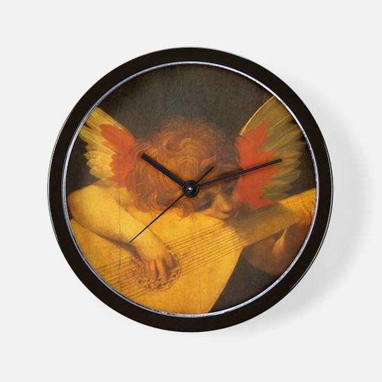 Musician Angel by Fiorentino Wall Clock