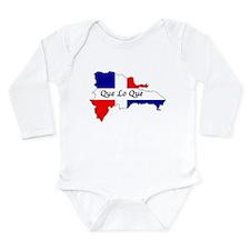 Cute Dominican Long Sleeve Infant Bodysuit