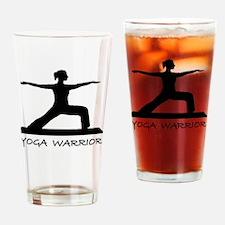 Yoga warrior Drinking Glass