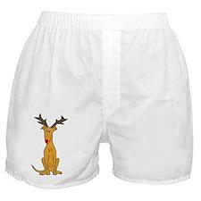 Christmas Greyhound Dog  Boxer Shorts