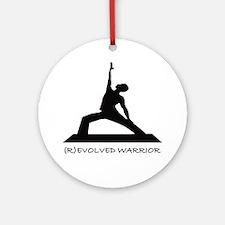 ®evolved Warrior Round Ornament