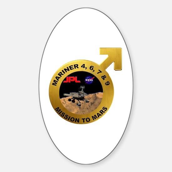 Mariner Program Logo Sticker (Oval)