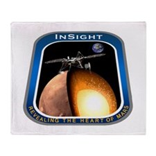 InSight Mission Logo Throw Blanket