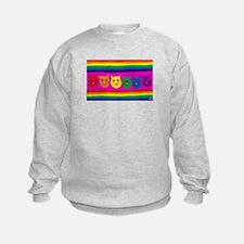 Gay rainbow cats Sweatshirt