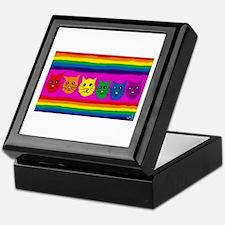 Gay rainbow cats Keepsake Box