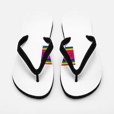 Gay rainbow cats Flip Flops
