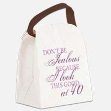 Look Good 40th Birthday  Canvas Lunch Bag