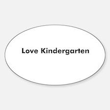Love Kindergarten Oval Decal
