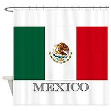 MEXICO FLAG Shower Curtain