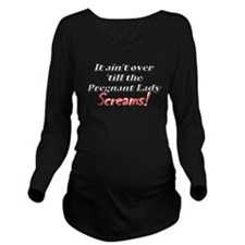 Unique The scream Long Sleeve Maternity T-Shirt