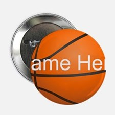 "Personalized Basketball Ball 2.25"" Button (10 pack"