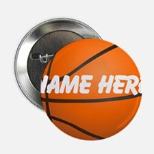 "Personalized Basketball Ball 2.25"" Button"