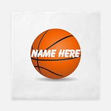 Personalized Basketball Ball Queen Duvet