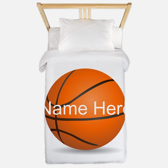 Personalized Basketball Ball Twin Duvet