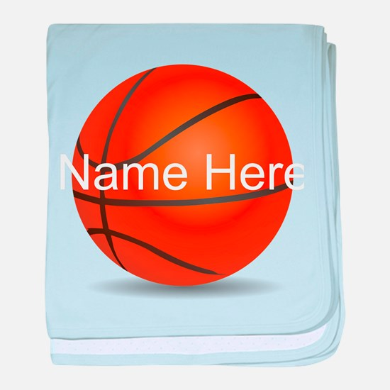 Personalized Basketball Ball baby blanket