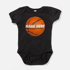 Personalized Basketball Ball Baby Bodysuit