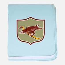 Crow Perching Crowbar Crest Retro baby blanket
