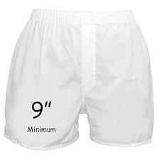 "9"" Minimum Boxer Shorts"