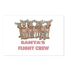 Santa's Flight Crew Postcards (Package of 8)