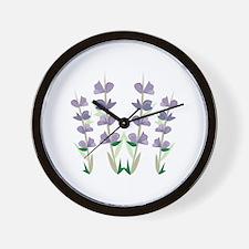 Lavender Blooms Wall Clock