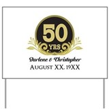 50th wedding anniversary Yard Signs