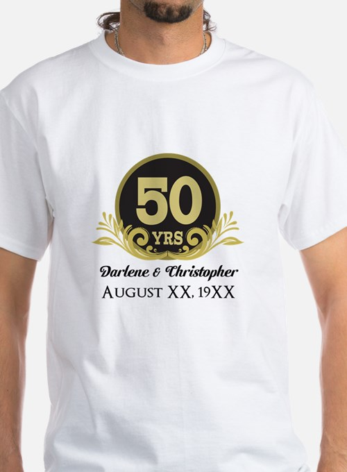 50th wedding anniversary gifts for 50th wedding for Restaurant t shirt ideas
