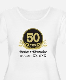 50th Anniversary Personalized Plus Size T-Shirt