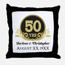 50th Anniversary Personalized Throw Pillow