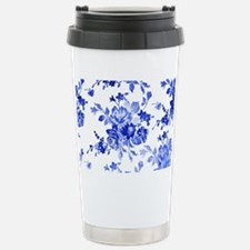Vintage blue and white  Stainless Steel Travel Mug